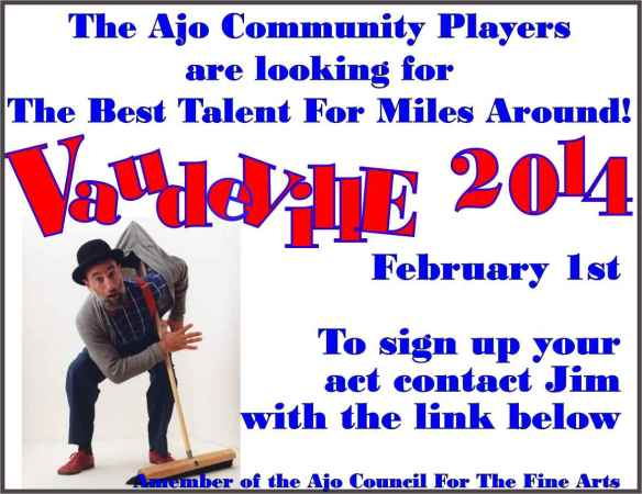 Vaudeville call for acts